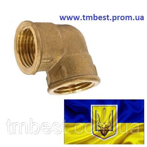 """Угол переходной 1/2""""Вх3/4""""В латунный"""