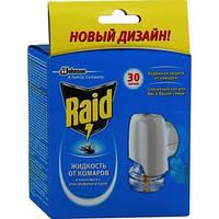 Электрофумигатор от комаров Raid в комплекте с жидкостью 30 ночей