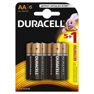 Батарейки Duracell Basic AA (LR6) MN1500  6 шт
