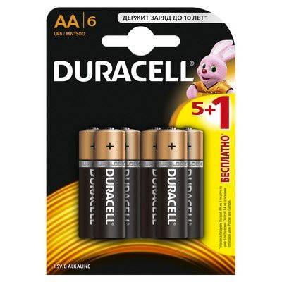 Батарейки Duracell Basic AA (LR6) MN1500  6 шт, фото 2