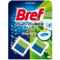 Bref Дуо-куб очищающие кубики для унитаза Хвойная свежесть 100 г