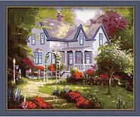 "Картина раскраска по номерам ""Дом там где сердце"", художник Томас Кинкейд, 40х50см. (MG061, КН061)"