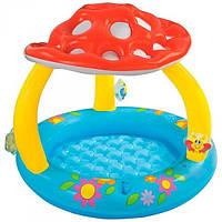 Бассейн надувной детский с навесом. Intex 57482
