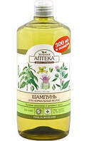 Шампунь Зеленая аптека Крапива двудомная и репейное масло 1 л