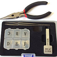 Ключ для нарезки автоключа по коду и замку с лезвием HY22