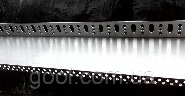 Стартовый профиль для базальтовой ваты 43 мм. длина 2,0 м.п. толщина алюминия 0,8 мм