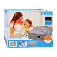 Двуспальная надувная ортопедическая кровать Intex 66958 с насосом