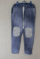 Капри-штаны с кружевными латками