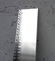Алюминиевый цокольный (стартовый) фасадный профиль 53 мм. длина 2,0 м.п. (толщина алюминия 0,8 мм)