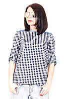 Рубашка мелкая клетка 399 (2цвета), рубашка в клетку женская, женская летняя рубашка, дропшиппинг украина