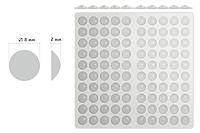 Отбойник силиконовый самоклейка / D=7,5 мм, Н=2,0 мм / 100 шт