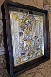 Икона в серебряной ризе Почаевская Божья Матерь 40*35 см, фото 4