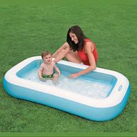 Детский надувной бассейн Intex 57403 прямоугольный Морской