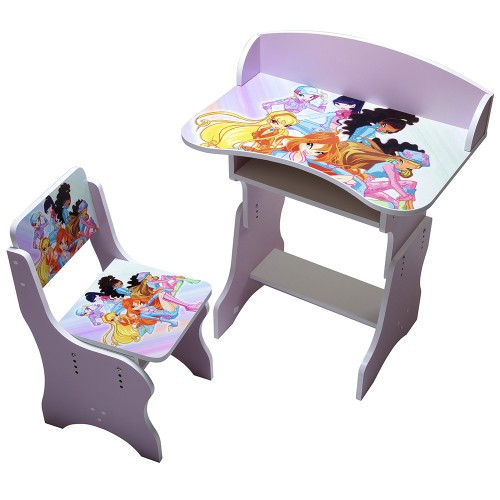 """Детская парта """"Winx"""", розовая  со стульчиком 321016"""