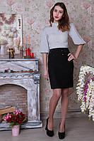 Черная деловая юбка