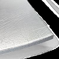 Шумоизоляция PRACTIK Soft металл 6 мм каучук 50х75 см с клеем и металлизированной пленкой
