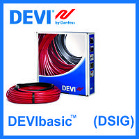 Нагревательный кабель DEVI одножильный DEVIbasic 20S на 230В - 640Вт