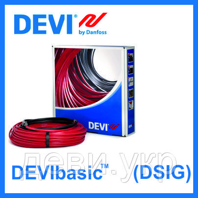 Нагревательный кабель DEVI одножильный DEVIbasic 20S на 230В - 1465Вт