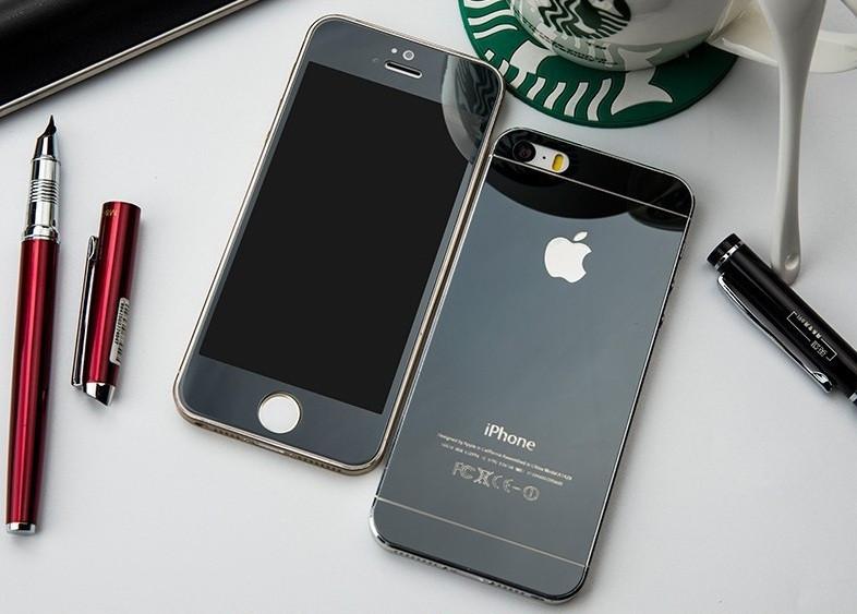 Зеркальное защитное стекло для iPhone 4 4S двухстороннее