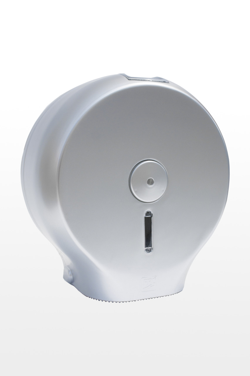 Диспенсер для туалетного паперу АБС пластик, 9298 сірий металік