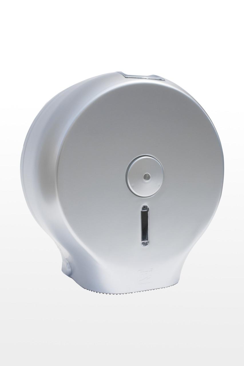 Диспенсер для туалетной бумаги АБС пластик, 9298 серый металлик