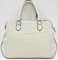 Женская сумка  серая среднего размера повседневная