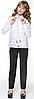 Блузка с гипюровой вставкой