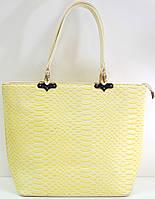 Брендовая женская сумка желтая