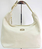 Брендовая женская сумка Fendi Фенди молочная