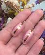 Серебряный комплект Ребека: серьги и кольцо с розовым улекситом 34519-34520, фото 3