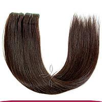 Волосы на лентах с иммитацией роста волос 45-50 см 100 грамм, Черный №01C