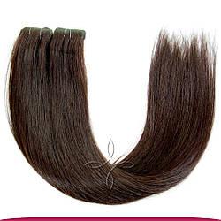 Волосы на Лентах с Иммитацией Роста Волос 45-50 см 100 грамм, Черный №02