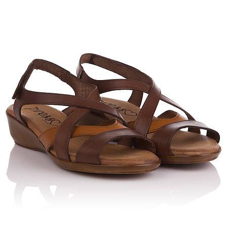 Сандалии женские Presso (Испания, кожаные, коричневые, практичные,  комфортные, удобные, стильные) a6f078eafc2