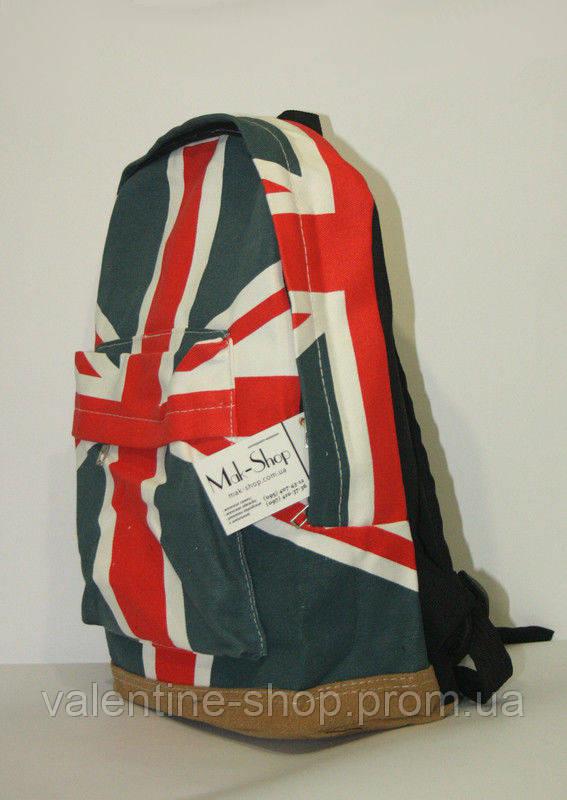 Купить рюкзак с принтом британским и американским флагом сумка-рюкзак женская выкройка