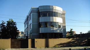 Вентилируемый фасад из композитного листа (с утеплением). Общий вид.