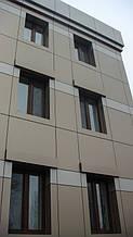 Вентилируемый фасад из композитного листа (с утеплением). Примыкания оконные.