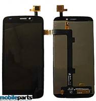 Оригинальный дисплей (модуль) + сенсор (тачскрин) для FLY IQ4410I (Черный)