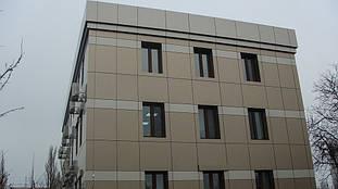 Вентилируемый фасад из композитного листа (с утеплением). Примыкания оконные