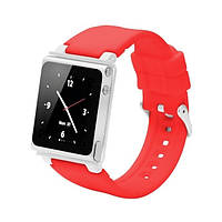 Чехол-ремешок Q2-collection soft-touch silicone iWatchZ для iPod Nano 6 красный