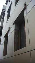 Вентилируемый фасад из композитного листа (с утеплением).