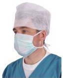 Маска хирургическая стерильная трехслойная на завязках