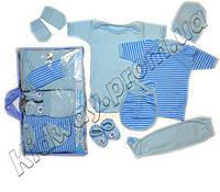 """Набор одежды 7 в 1 для новорожденного """"Мишка"""" голубой, Турция"""