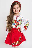 Стильная детская юбка с вышивкой