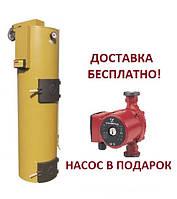 Котел с пеллетной горелкой Stropuva S40i IDEAL под уголь дрова и пеллету