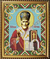 Схема для вышивания бисером Икона Святого Николая Чудотворца