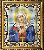 Схема для вышивания бисером Икона Божьей Матери Умиление