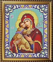 Схема для вышивания бисером Икона Божьей Матери Владимирская