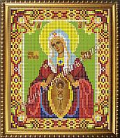 Схема для вышивания бисером Икона Божьей Матери Помощница в родах