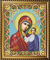 Схема для вышивания бисером Икона Божья Матерь Казанская