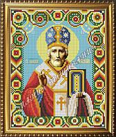 Схема для вышивания бисером Икона Святой Николай Чудотворец